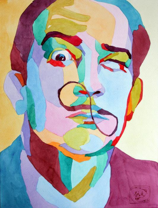 Portrait of Salvador Dali by en-masse on Stars Portraits - 1